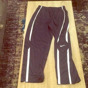 Navy Blue Nike sweat pants with white stripe